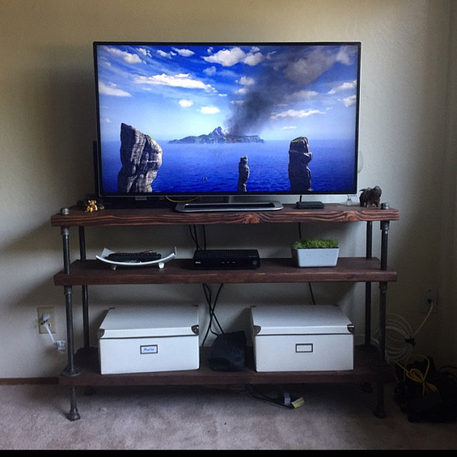 industrial tv stand customer view