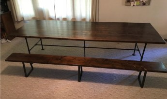 Pipe Table and Bench