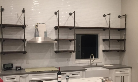 Custom Open Shelving