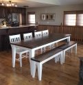 Tappered Leg Table and Bench